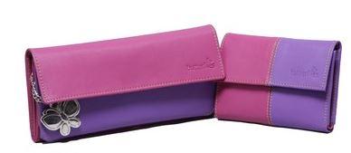 Butterflies Women Casual Artificial Leather Wallet (9 Card Slots)