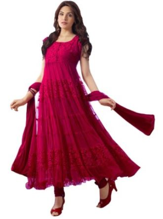 Fashion Brasso, Net Self Design Semi-stitched Salwar Suit Dupatta Material