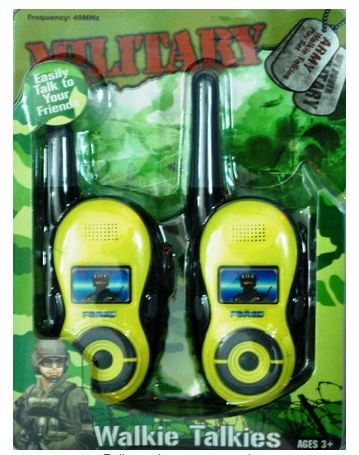 BATTERY OPERATED MILITARY ARMY WALKIE TALKIE SET TOY FOR KIDS
