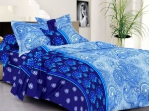 Cenizas Cotton Abstract Double Bedsheet