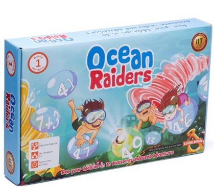 Educational Math Game OCEAN RAIDERS Awesome Addition board game for kids