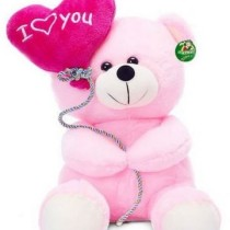 I Love You Balloon Heart Teddy Pink 18 cm