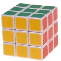 Magic Cube 3x3x3 White Stickerless Rubik's Cube