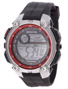 Sonata Ocean Digital Grey Dial Men's Watch