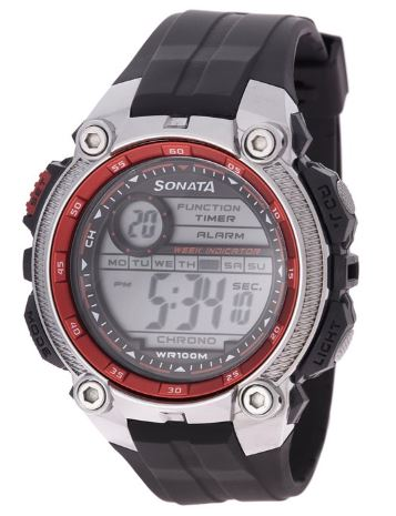 Sonata Ocean Digital Grey Dial Men's Watch Online India