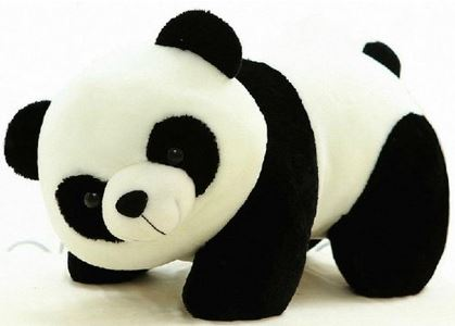 Tickles Stuffed Soft Plush Toy Kids Birthday Black Panda 26 cm