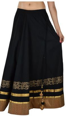 9rasa Printed Women's Broomstick Skirt Price: Rs. 1,999