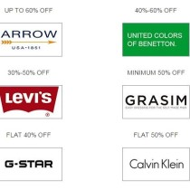Amazon offers 50 to 70 percent discount on Branded Men Clothing Online India