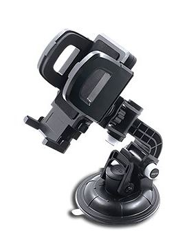 Amkette Universal Smartphone Car Mount Holder M50 Sportz (360' angle viewing, 3M adhesive , 90mm suction cup, rugged & sporty design)