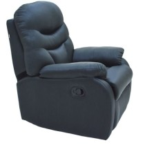 Ancona One Seater Recliner in Black Colour by Furnitech