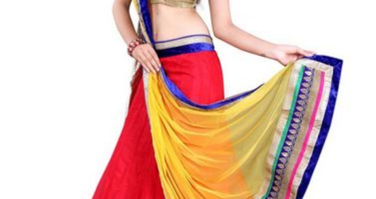 Anu Clothing Red Net Lehenga