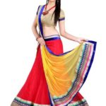 Buy SnapDeal Offer Anu Clothing Red Net Lehenga @ Just Rs 864