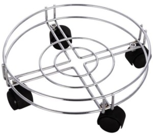 Arsh Plast Industries Gas Cylinder Trolley(Silver, Pack of 1)