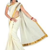 Atex Cotton Zari Saree (5102 _Ivory)