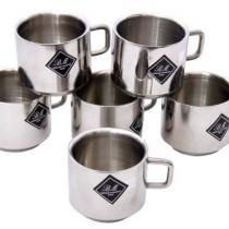 BM Decent Stainless Steel Mug(150 ml, Pack of 6)