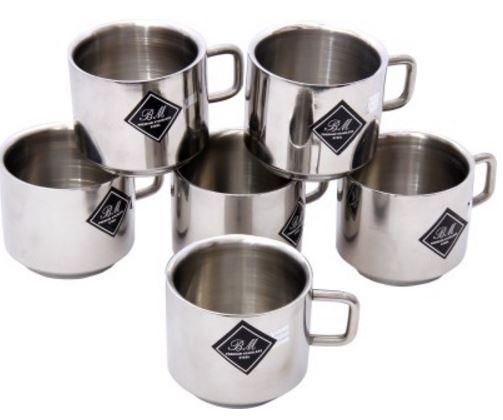 Buy Flipkart Offer : BM Decent Stainless Steel Mug(150 ml, Pack of 6)
