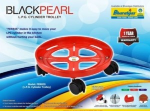 Black Pearl Plt-Trolly Gas Cylinder Trolley(Red, Pack of 1)