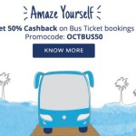 Get 50% Cash back on Bus ticket bookings from PayTM