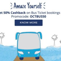 Bus Ticket Booking - PayTM 50 CashBack