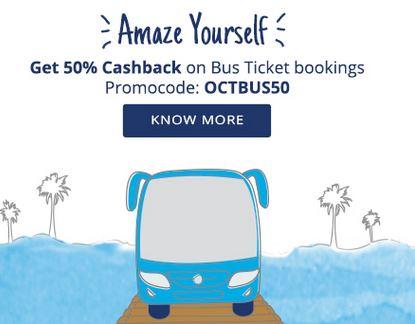 Bus Ticket Booking - PayTM 50 CashBack