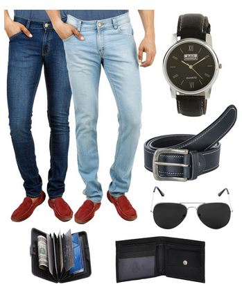 SnapDeal : Buy Stylox 2 Denim With Mens Combo