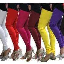 Castle Pack Of 8 Mulitcolor Solid Daily Use Leggings