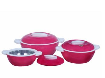 SnapDeal : Cello Elegant Casseroles Set (3 pcs.) Pink