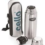 Buy Flipkart Offer : Cello Lifestyle 500 ml Flask(Pack of 1, Silver, Black)