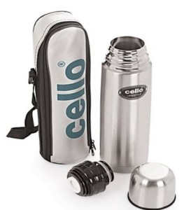 Cello Lifestyle 500 ml Flask(Pack of 1, Silver, Black)