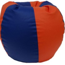 Classic Style Filled Bean Bag in Orange Blue Colour by Orka
