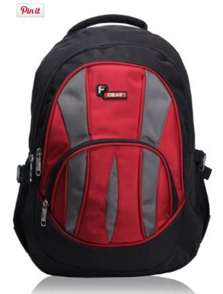 F Gear Adios Backpack, Black & Red
