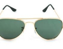 FEDRIGO Golden Green Aviator Sunglasses