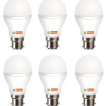 Pepperfry offer FIEM White 7W LED Bulb Set of 6 online india