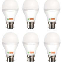 FIEM White 7W LED Bulb Set of 6