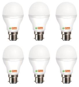 FIEM White 7W LED Bulb Set of 6