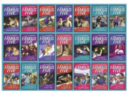 Famous Five 21 copy box set INDIA (English)