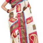 Studio Shubham Geometric Print Fashion Art Silk Sari Price: Rs. 699