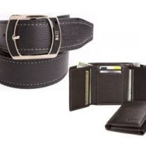 Fashionable Italian Combo For Men Belt & Tri folder Wallet