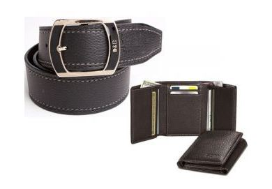 shopclues fashionable italian combo for men belt tri folder
