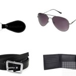 SnapDeal : Gledati Black Combo Of Belt Wallet and Sunglass