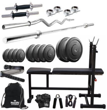 Buy Amazon.in Offer Headly 50 Kg Combo 6 Home Gym @ Rs 6930