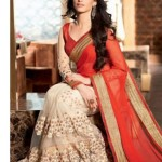 PayTM : Indian Beauty Orange Faux Georgette Saree