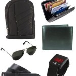 Buy Amazon.in Offer Keepsake combo of Black Bag , Wallet , Belt , Aviator Sunglasses , Cardholder @ Rs 1099