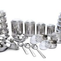 43 Pcs Stainless Steel Storage Serving Set Rs 1999 Best Deals