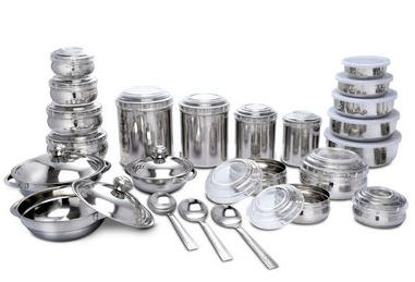 Kitchen Queen 43 Pcs Stainless Steel Storage Serving Set Rs 1999