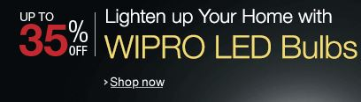 Lighten up your home with wipro led bulbs upto 35 percent OFF discount