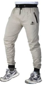 Men's Cotton Track Pants with Zipper Pockets