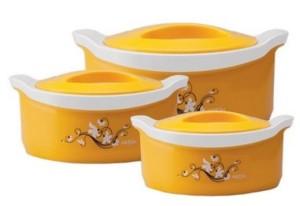 Milton Marvel Pack of 3 Casserole Set(1000 ml, 1500 ml, 500 ml)