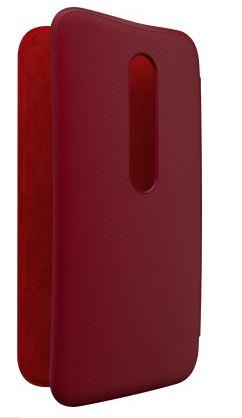 Motorola Flip Cover for Moto G (3rd Gen)(Crimson & Red)
