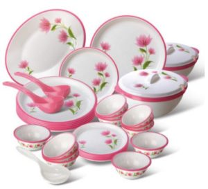 Nayasa Printed Pack of 32 Dinner Set(Melamine)